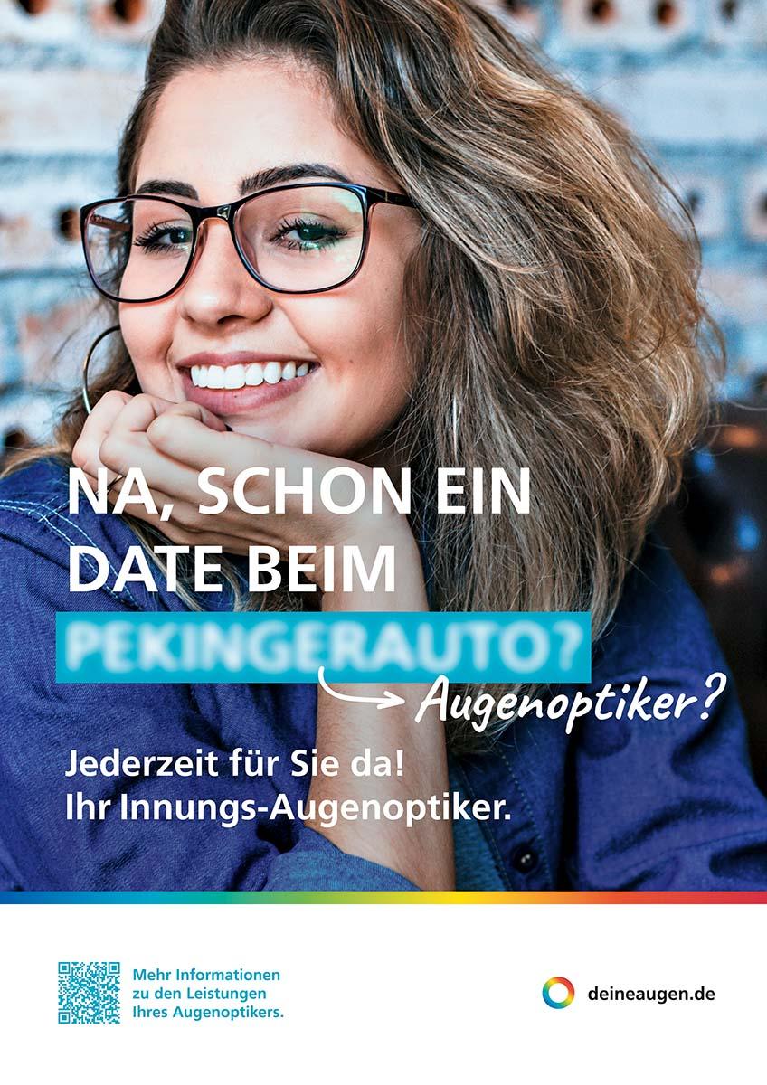 Plakat der Kampagne der AOV NRW zu den Leistungen der Augenoptiker